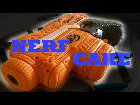 NERF Cake Fondant for Oscars 8th Birthday
