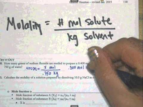 16 4   calculating molality