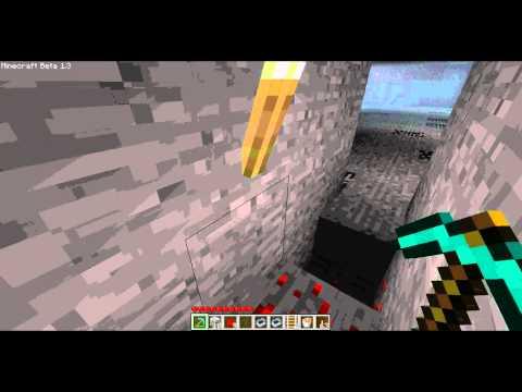 minecraft beta how to make a lava teleport