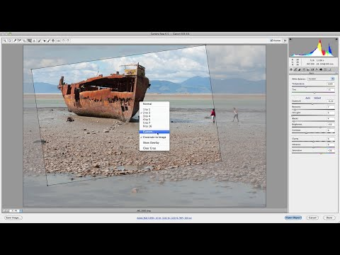 Camera Raw: How To Easily Crop & Straighten Images
