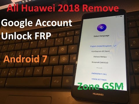All Huawei 2018 Remove Google Account Unlock FRP Android 7 Huawei Y7 TRT-LX1