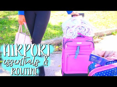 Airport Essentials & Routine!!  | Paris & Roxy