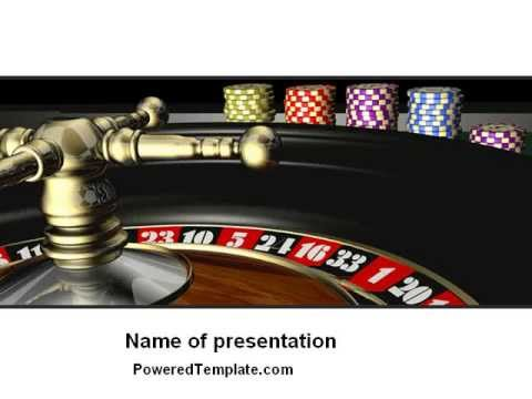 Roulette PowerPoint Template by PoweredTemplate.com