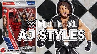 WWE FIGURE INSIDER: AJ Styles - WWE Elite 51 Toy Wrestling Action Figure