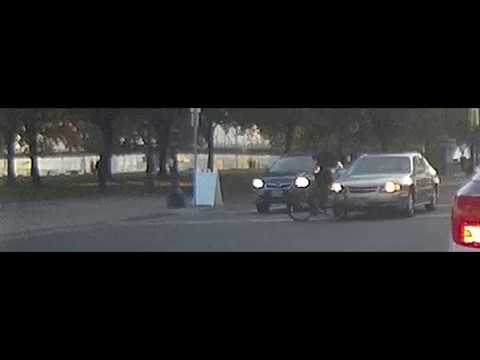 Car vs. Bike Crash, Portland, OR, SW Taylor St & SW Naito Pkwy Southbound