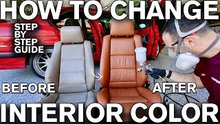 How to Change Car Interior Color with Dye: BMW