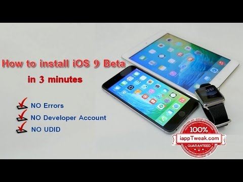 How to install iOS 9 Beta in 3 minutes Without Errors - NO Developer Account / UDID Needed