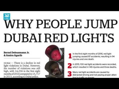 Jump red signal in Dubai, get fine of Dh800