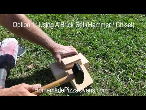 How To Cut Bricks By Hand Using A Brick Set AND An Angle Grinder With Masonry Blade