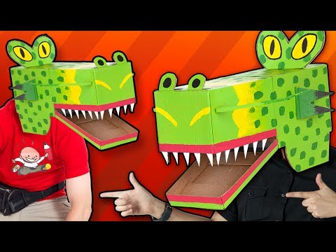 Cardboard Dragon Mask - Craft Ideas For Kids | DIY on Box Yourself