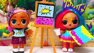 Download LOL Dolls Art Club Have Fun Painting at School | Playing with Toys for Kids & Barbie Swimming Pool Video