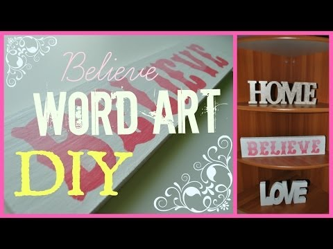 WORD ART sign DIY ♡ super easy and cheap!