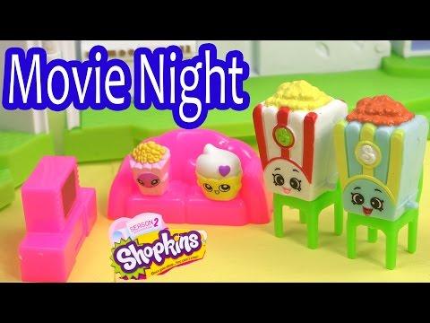 Shopkins Season 2 FAMILY MOVIE NIGHT Glitzi Globes Kids Video Fun Friends House Playset Play