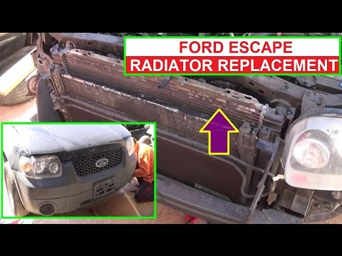 Ford Escape Radiator Removal and Replacement  2.0 2.3 3.0 Engine Mercury Mariner