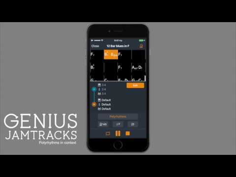 Genius Jamtracks - the perfect tool to practice polyrhythms