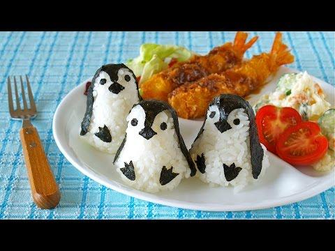 Kawaii Baby Penguin Onigiri Rice Balls (Bento Idea) 赤ちゃんペンギンおにぎり - OCHIKERON - CREATE EAT HAPPY