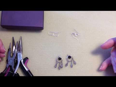 WilsonBeadwork: Attach Fishhook Ear Wire to Pair if Earrings DIY Earring Repair