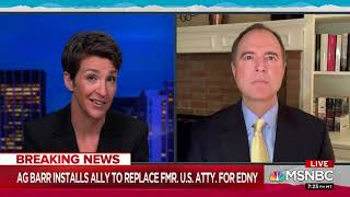 Rep. Schiff on MSNBC: One System of Justice for Trump's Criminal Friends, And One For Everyone Else