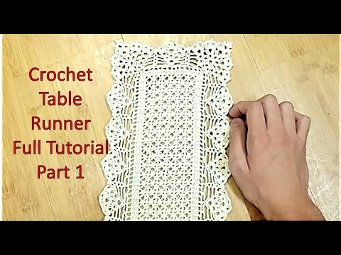 Learn How to Crochet TABLE RUNNER and Customize it's Length Tutorial Part 1