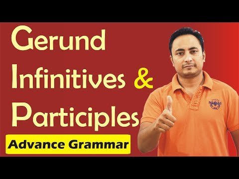 Gerund Infinitive and Participle in English Grammar in Hindi | Competition English Grammar