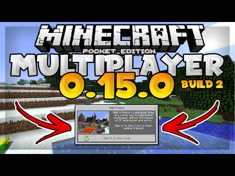 MCPE 0.15.0 Multiplayer Gameplay! - How to Play Online // New Update Build 2 - Pocket Edition