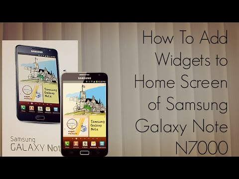 How to Add Widgets to Home Screen of Samsung Galaxy Note N7000 Mobile Phone - PhoneRadar