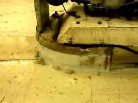 Liquid strip of 40 coats of wax off the VCT flooring