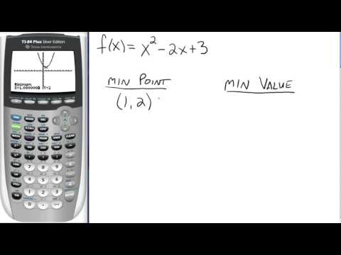 Using TI-83/84 to Find Extreme Points and Values
