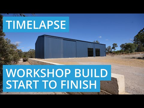 Shed Construction Video from Start to Finish