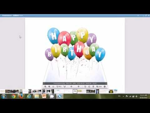 How To Make Birthday Greeting Card Picture to have 3D Popup Effect using Powerpoint
