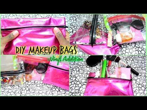 DIY clear vinyl makeup bags