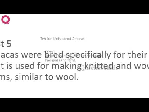 Ten facts about Alpacas | MY HEALTH | HEALTH TIPS