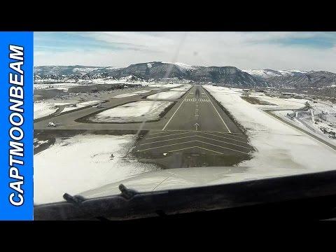 Citation Landing Eagle Colorado: Snow and ATC Audio