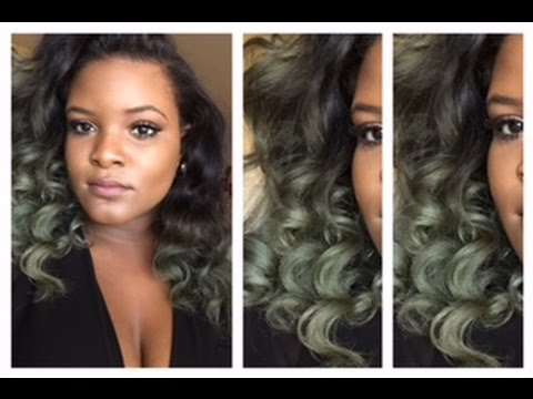 How To Dye Your Hair Silver / Olive Green
