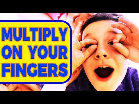 How To Do Times Tables With Fingers - Easy Way To Multiply or Multiplication Using Your Hands