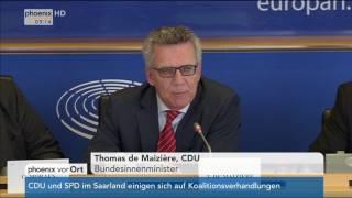 Aussprache zur Sicherheitspolitik: Rede von Thomas de Maizière am 27.03.2017