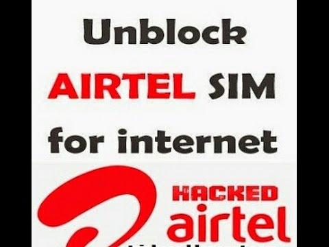 How to unblock Airtel sim