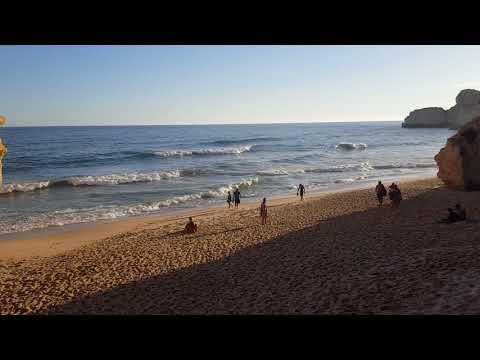 Portugal, Algarve Marinha Beach Lagoa