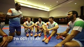 A day in the life of the Indian Kabaddi Team: Matchday Ready