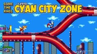 Uekawa Sonic in Cyan City Zone | Sonic Mania Mods