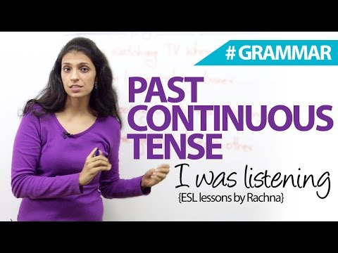 The Past Continuous Tense (I was Sleeping) - Free English Grammar Lesson
