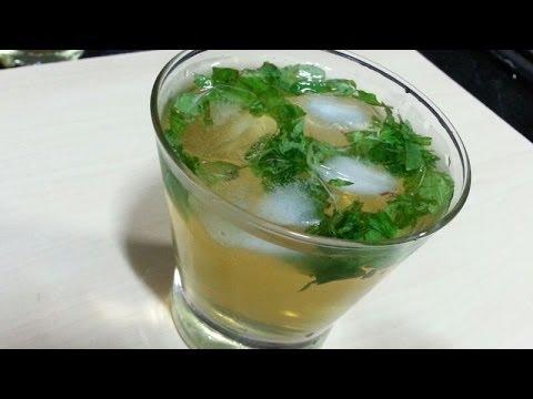 Low calorie- coconut green tea-healthy drink