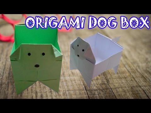 Origami Dog Box - Origami Easy