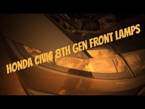 Uk Honda Civic 8th Gen headlight lamp bulb change.
