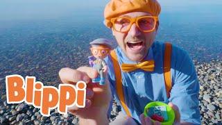 Blippi Goes On A Treasure Hunt For Toys | Blippi Videos For Kids