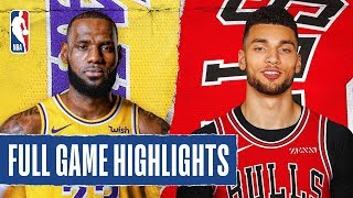 LAKERS at BULLS | FULL GAME HIGHLIGHTS | November 5, 2019