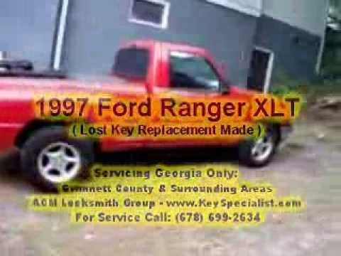 Atlanta, GA: 1997 Ford Ranger - Lost Keys Replaced From Scratch!