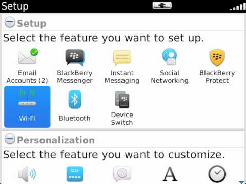Using the Setup Wizard on your BlackBerry smartphone