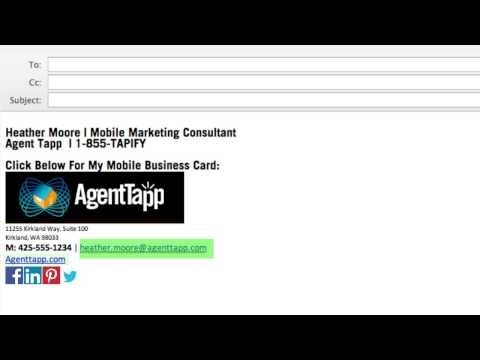 How To Embed Your Agent Tapp Link In Your Email Signature