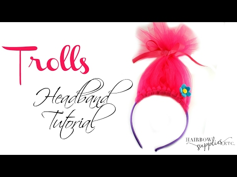 DIY Trolls Headband with Tulle - How to Make Troll Hair - Hairbow Supplies, Etc.